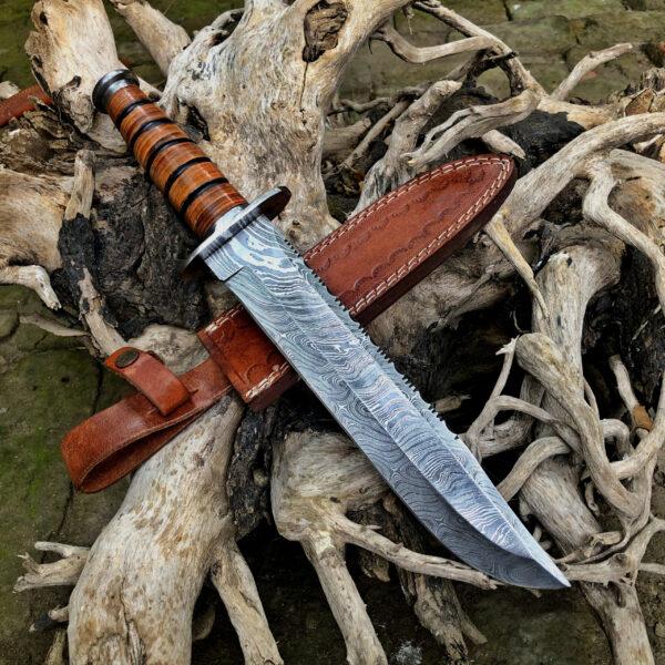 Damascus Kabar - Buy Survival Ka-bar Knife HK-04