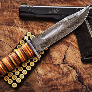 Damascus Kabar - Ka-bar Knife For Sale HK-05